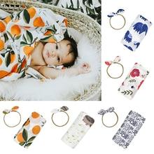 100*110 см Фотография реквизит хлопок летние детские одеяла мягкие постельные принадлежности банное полотенце новорожденный Младенческая пеленка для сна+ повязка на голову