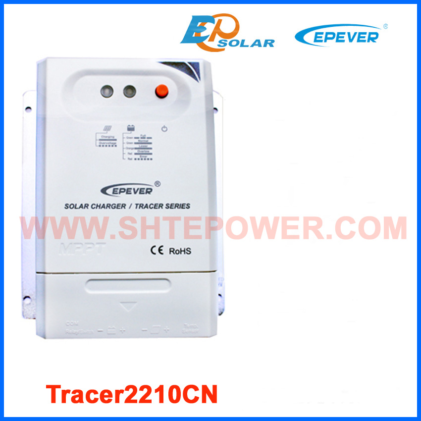 New series CN product MPPT EPSolar EPEVER solar charging regulator Tracer2210CN 20A 20amp 12v 24v auto work tracer5206bp solar regulator for 12v 260w 24v 520w solar panel system lithium battery charging use 20a 20amp epever