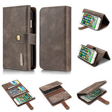 2 In1 Multifunction Removable Phone Cases For iPhone 7 Cover Stand Flip Wallet Purse Lady Pouch Bags Card Slots Photo Frame 4.7