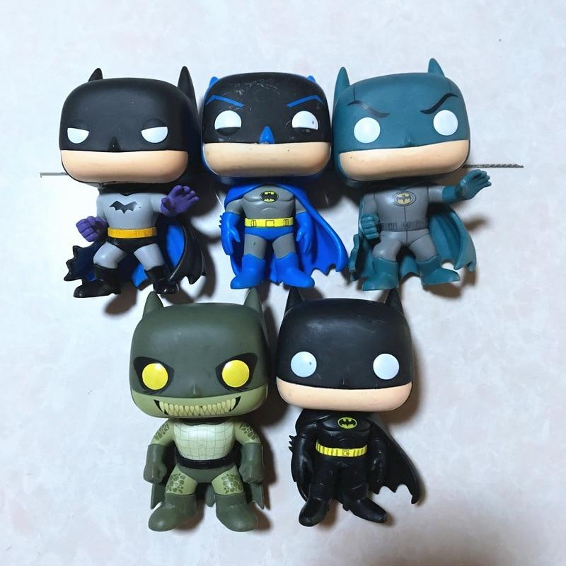 Imperfect Original Funko pop DC Heroes: Friends, Fighting, Killer Croc, Classic Batman Vinyl Action Figure Collectible Model Toy