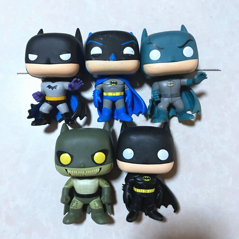 Imperfect Original Funko pop DC Heroes: Friends, Fighting, Killer Croc, Classic Batman Vinyl Action Figure Collectible Model Toy