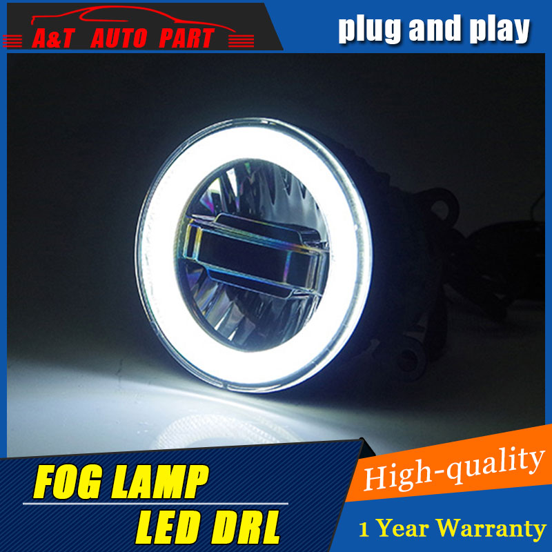 JGRT Car Styling Angel Eye Fog Lamp for Peugeot 307 LED DRL Daytime Running Light High Low Beam Fog Automobile Accessories