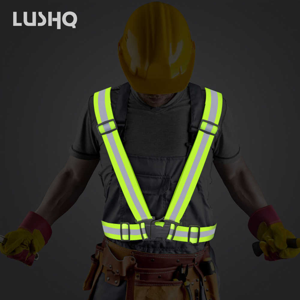2020 High Visibility Outdoor Reflective Safety Vest jacket Fit For Adults and children Running Cycling Sport Outdoor Clothes