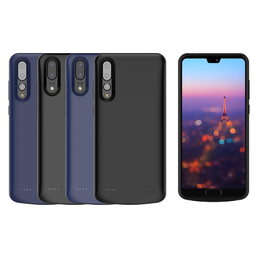 6000 mAh Cell Phones Power Bank Charging Case External Battery Charger Cases USB Backup Soft Edge Case for Huawei P20/P20 Pro