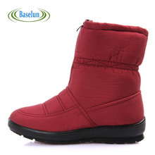 2016 Winter Women Warm Snow Boots Non-slip Waterproof Girls Boots Mother Casual Cotton Shoes  Autumn Boots Femal Shoes
