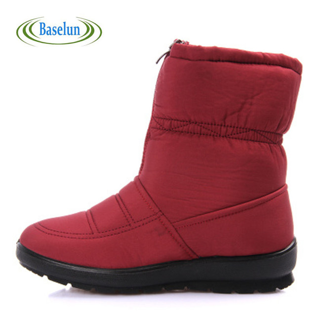 9035b41d5b3ef 2016 Winter Women Warm Snow Boots Non-slip Waterproof Girls Boots Mother  Casual Cotton Shoes