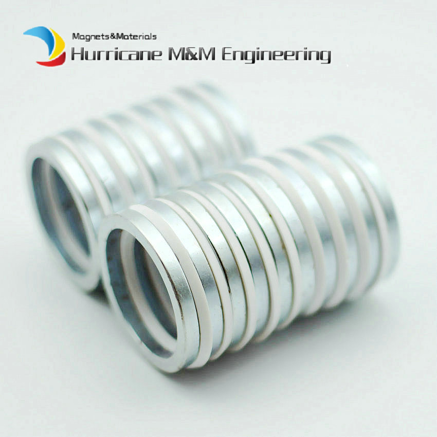 NdFeB Magnet Ring N42 Dia. 39.5x32x4 mm Precision Axially Magnetized Strong Neodymium Permanent Rare Earth Magnet 6-200pcs цена