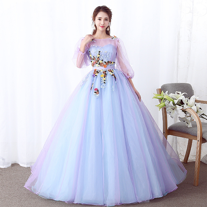 Evening Dresses 2018 Pastel Tulle Art Stage Dresses