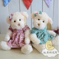 30 cm Active joints soft plush stuffed bear toy couple teddy bear with cloth Birthday gift
