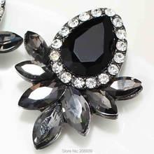 Женские серьги гвоздики с камнями e551 сережки серыми/розовыми