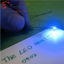 50pcs/lot 0402 SMD Pre-soldered micro litz wired LED leads resistor 20cm 8-12V Model DIY 9 Colors can choose