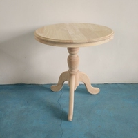 55cmX60cm Round tea table of Scandinavian hotel table office coffee table corner of living room Rubber wood no paint