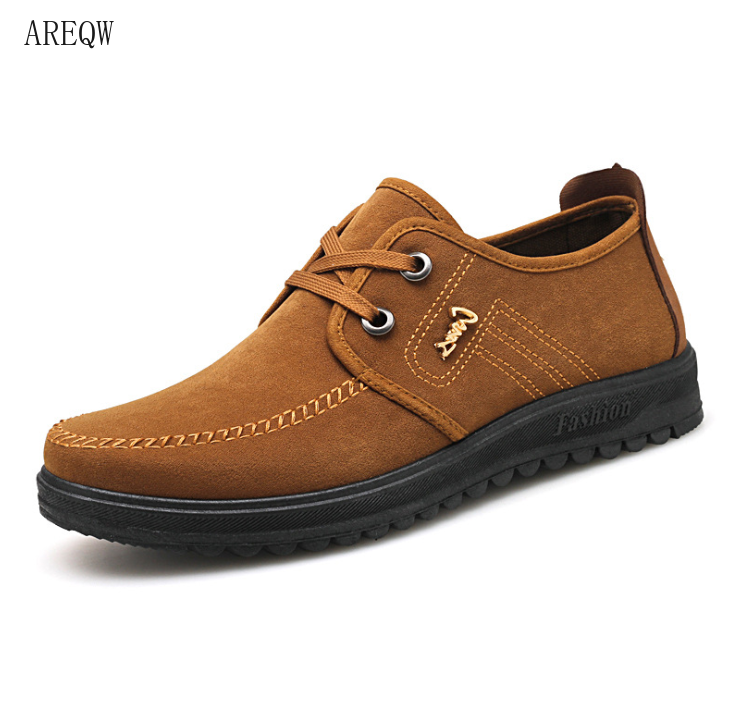breathable men flat canvas shoes lace-up Comfortable Spring Autumn Fashion Breathable Male Walking Shoes