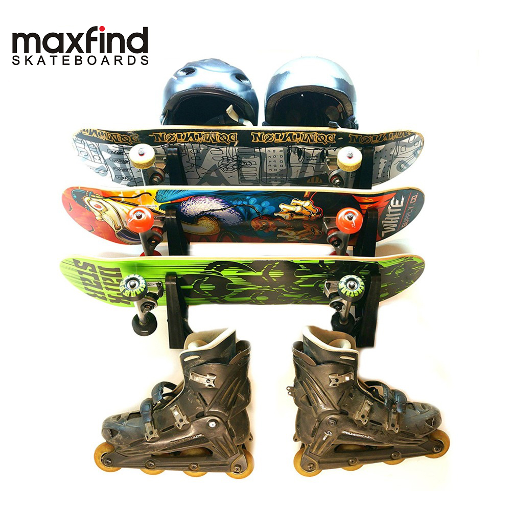 Skateboard Wall Hanger Wall Storage Clip Skateboard Wall Rack Wall Mount for Skateboard and Longboard