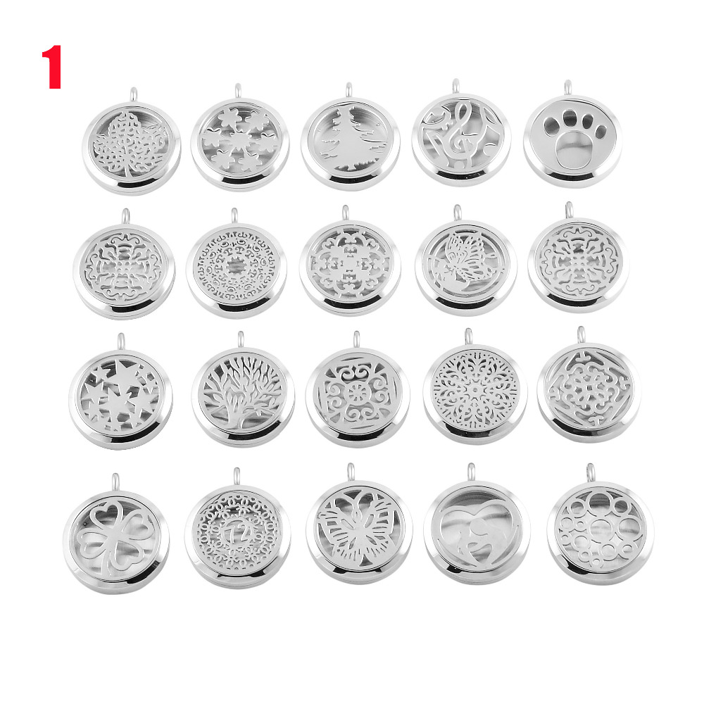 IJP0001 20 Different designs, With A variety of options Stainless Steel Aromatherapy / Essential oil Diffuser Necklace designs for health prenatal pro essential packets 60 pkts