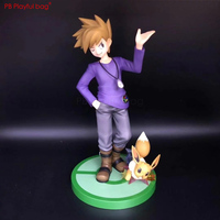 21CM Pokemons Gary Oak & Eevee figure PVC collectible model Action figure New model Doll Toys Children favorites HC58