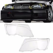 1 пара слева и справа фар фары ясно Оптические стёкла объектив Прозрачная крышка купе для BMW E46 2DR 1999-2003 m3 2001-2006