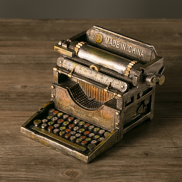 handmade resin crafts retro typewriter vintage typer antique marking machine model statue prop. Black Bedroom Furniture Sets. Home Design Ideas