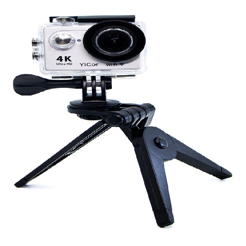 Mini Portable Folding Stand Tripod Mount for Xiaomi Yi SJ4000 SJCAM 4K Action Sport Camera For Gopro Hero 7 6 5 4 3 3 2 in Sports Camcorder Cases from Consumer Electronics
