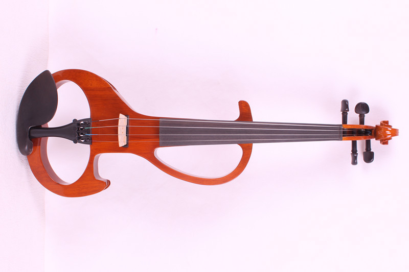 4/4 New 4 string Electric Acoustic Violin Solid Wood Nice Sound orange    color 4 4 electric violin infinite brand paten pick up nice