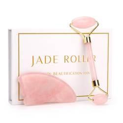 Розовый кварц роликовый для похудения уход за кожей лица Массажер подъемный инструмент натурального нефрита роллер для массажа лица