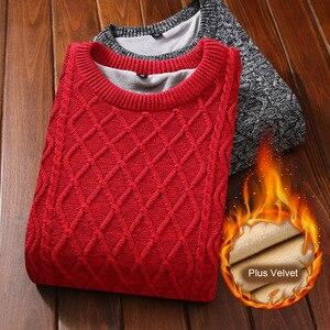 Image 1 - Suéter de terciopelo grueso para hombre, Jersey de punto grueso para mantener el calor, suéter para adolescentes, M36 estilo coreano, novedad de 2020