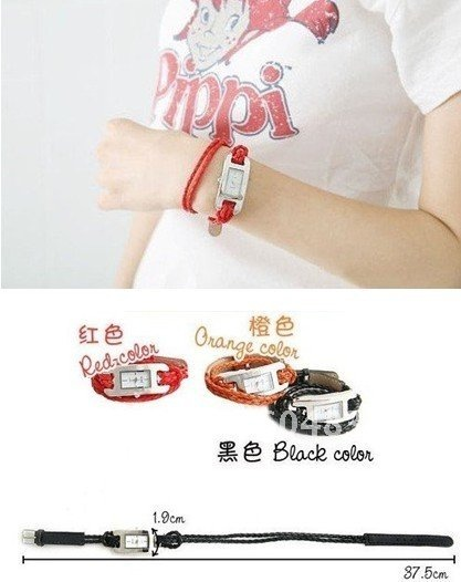 rope watches, analog quartz watch, odm bracelet wristwatch popular mix colors leather band watch