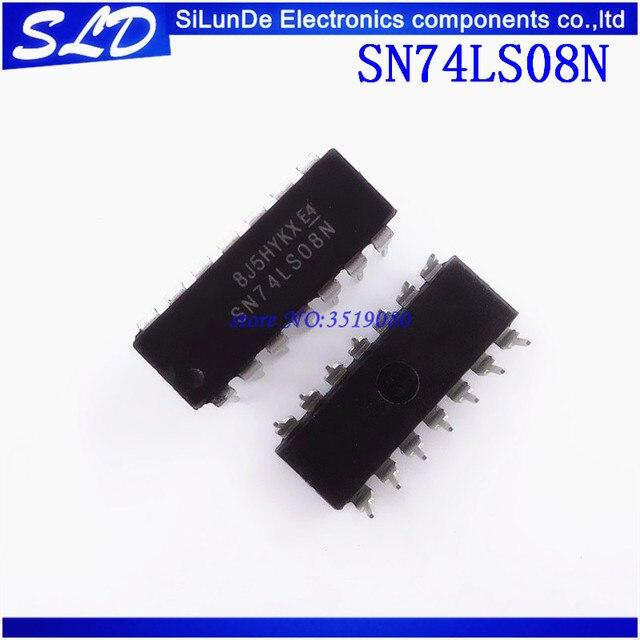 شحن مجاني 100 قطعة/الوحدة SN74LS08N SN74LS08 DIP14 DIP 74LS08N 74LS08 جديدة ومبتكرة في المخزون