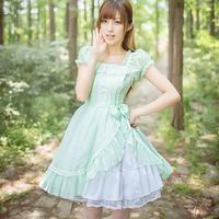 Royal Fairy Tale 2016 Japanese Soft Sister Princess LOLITA Dress Original Chiffon Summer Cute Dress W274