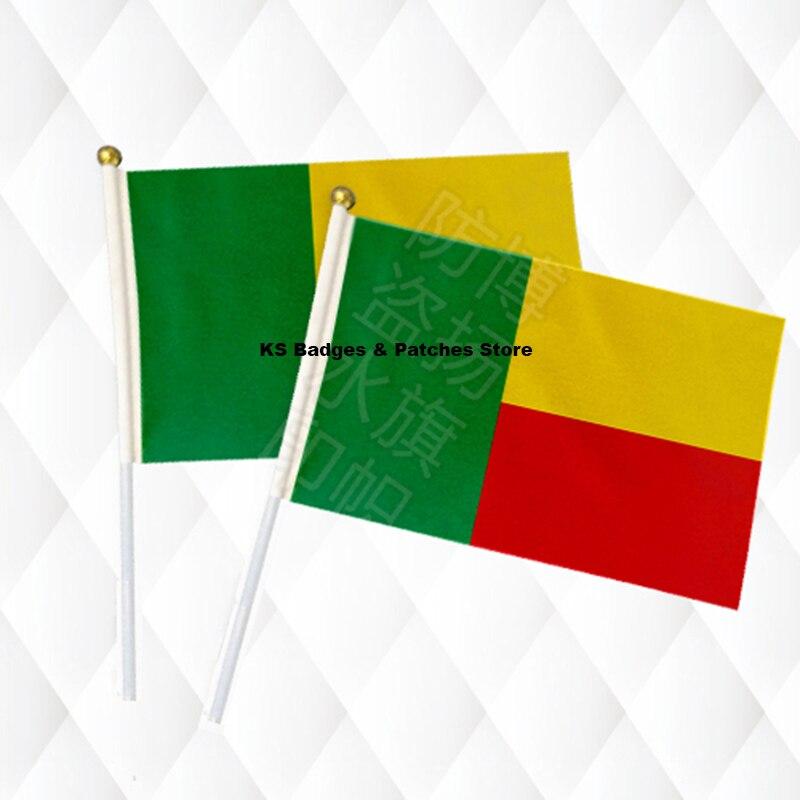 Haus & Garten Wohnkultur Beliebte Marke Benin Hand Stick Tuch Fahnen Sicherheit Ball Top Hand Nationalen Flaggen 14*21 Cm 10 Stücke Viel Ks-0033 üBereinstimmung In Farbe