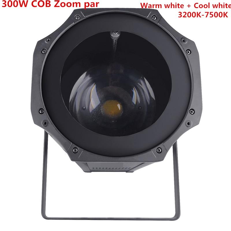 Zoom LED Par 5-50 Degree LED 300W COB LED Par Light  Warm White + Cold White 2in1  RGBW 4in1 Stage Disco Light Led Par 64