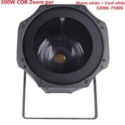 Zoom LED Par 5 50 stopni LED 300W COB led lampa Par ciepły biały + zimny biały 2w1 RGBW 4w1 etap światło dyskotekowe LED Par 64|Oświetlenie sceniczne|   -