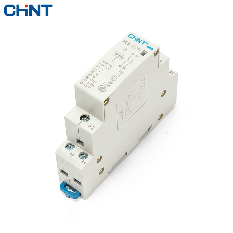 CHINT Guide Type NCH8-25/02 Two Often Close <font><b>25A</b></font> Security 2P Household Small Single - Phase AC Contactor <font><b>220V</b></font> image