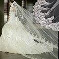 Оптовая Белый и Слоновая Кость Свадебная Фата 3 М Кружева Длинные Свадебные Фаты Для Свадебных Платьев платья Свадебные Аксессуары