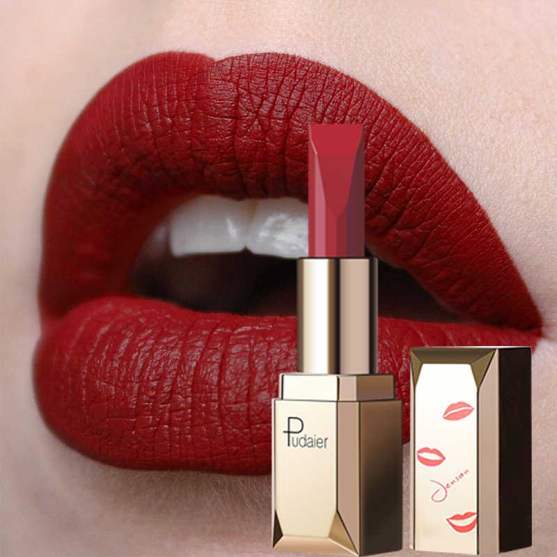 Pudaier mate pintalabios maquillaje labial a prueba de agua 26 colores hidratante de larga duración tinte de labios pigmento negro Sexy colorete a levre mat