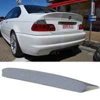 For BMW E46 CSL Style PU Primer Rear Trunk Lip Spoiler Wing 1999 2004 2 Door