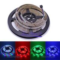 12 v 5 m 300leds 335 rgb colorf led vista lateral emitindo luz de tira flexível ip65|flexible strip light|strip light|led side view -