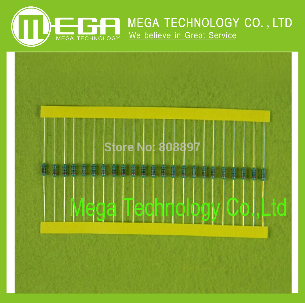 1000 PCS 1/4 WATT 1KR 1K 1/4W 1KOHM 1K Ohm 0.25W 1% Metal Film Resistors