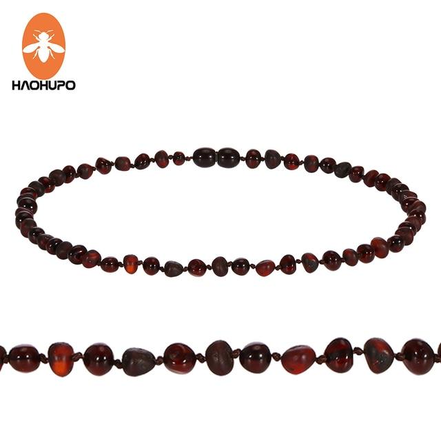 HAOHUPO Original Amber Teething Necklace Natural Baltic Gemstone Jewelry Christm