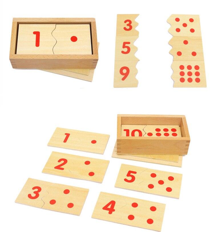 Монтессорі Цифрова головоломка Дерев'яні іграшки Освіта Math Toy висока якість