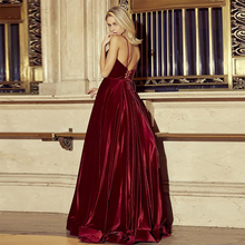 Verngo Fall Winter Red Velour Evening Dress Vintage Gown Elegant Formal Custom Made Plus Size Party Abiye