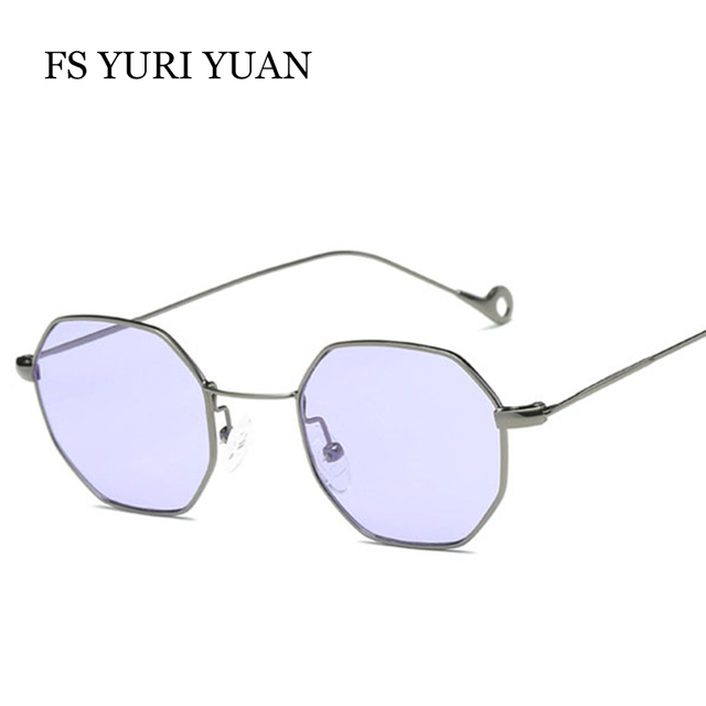 b5c78f167364 20 PCS Lot Polygon shape sunglasses women men vintage luxury Brand Designer  Clear lens sunglasses