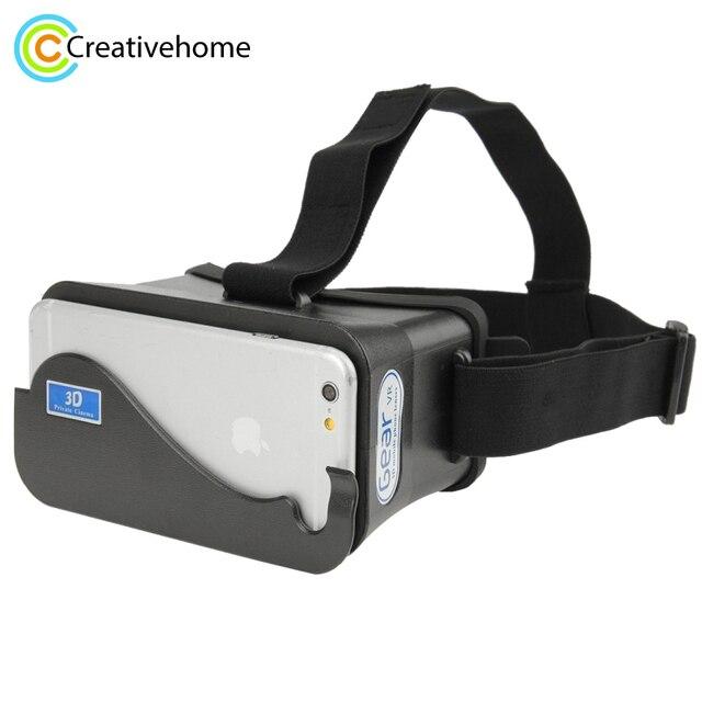 Venta caliente en Stock DIY Google cartón teléfono móvil Realidad Virtual  3D gafas para el iPhone d8cb139c2ab1