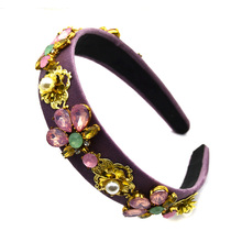 2019 Woman Dolce Headdress Tiara bridal hair accessories Crystal Baroque Headband korona barroca Hairbands Jewelry Diademas