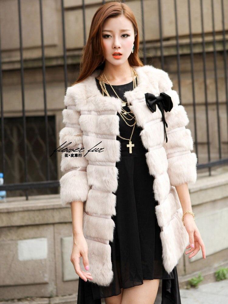 Manteau Long Femmes Rabbit New Lapin Véritable Furjacket Vêtements F118 Livraison Beige Taille Pelt black Gratuite Hiver Complet Fourrure Grande De n41I7xfWv