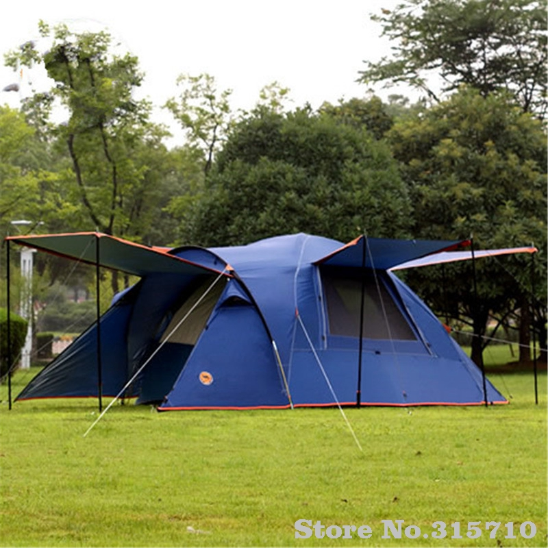 Camel 3-4 person large family camping tent one room two hall sun shelter gazebo beach tent include one pair front poles outdoor double layer 10 14 persons camping holiday arbor tent sun canopy canopy tent