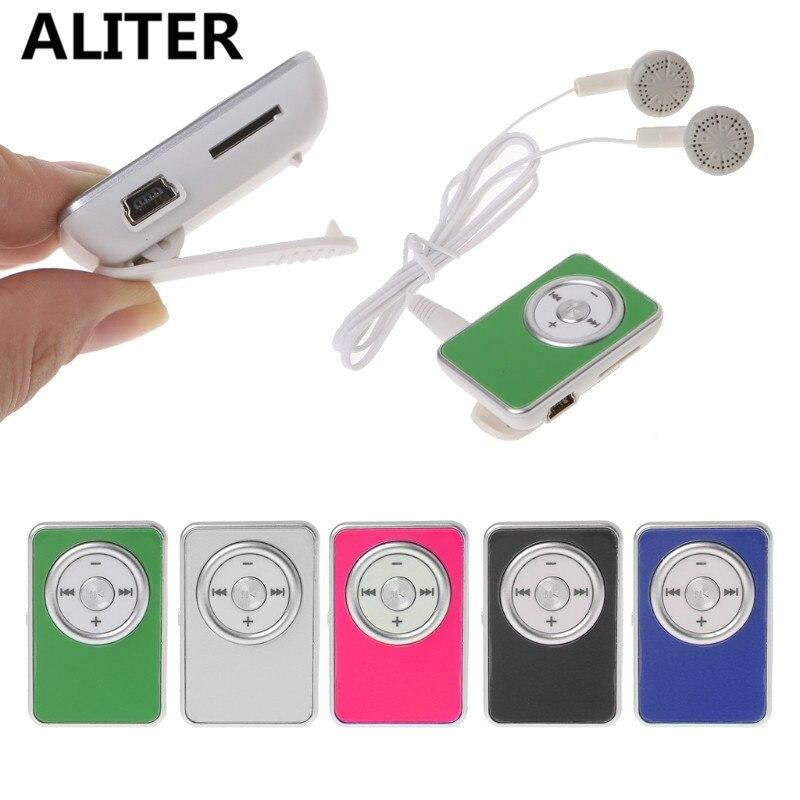 USB MP3 Player Portable Mini Clip Music Media With Earphone USB Cable portable media player