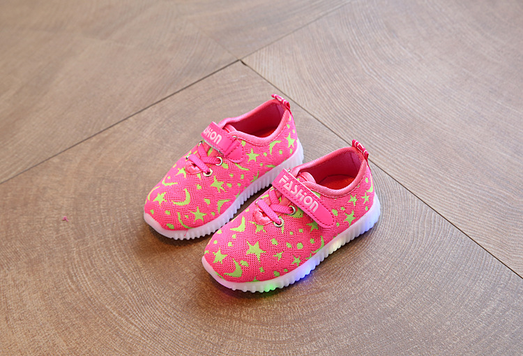 17 New Kids LED Sneakers Breathable Children Sports shoes Baby boys Luminous shoes for girls shoe with light Size 21-30 11