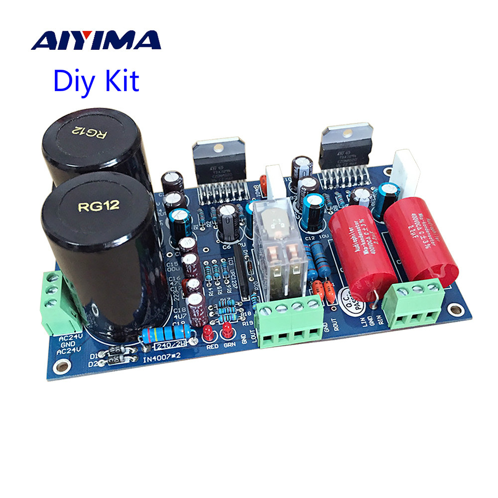 Aiyima TDA7294 Audio Amplifier Board 70W*2 Two Channel Speaker Protection Power Amplifier Board Diy Kit DIY Sound System Speaker aiyima upc1237 speaker protection board dual channel power on delay dc protect module 11 26v for audio amplifier amp diy