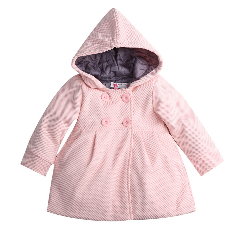 2017 baby kids coat girls winter pink coat kids jackets casual baby clothing children outwear & coats baby coats for girls